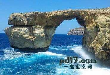 世界上著名的自然拱门Top4:蓝窗