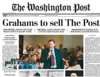 全球十大热门报纸Top4:美国华盛顿邮报