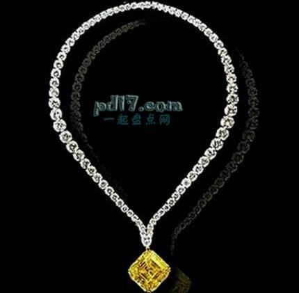 Top4:LEVIEV'S VIVID YELLOW DIAMOND PENDANT 1000万美元
